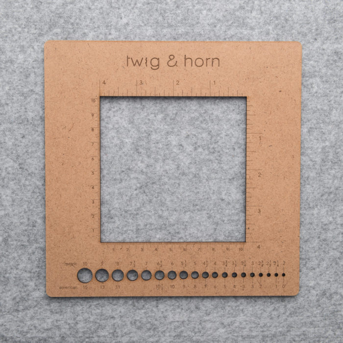 SQUARE GAUGE RULER - Twig and Horn