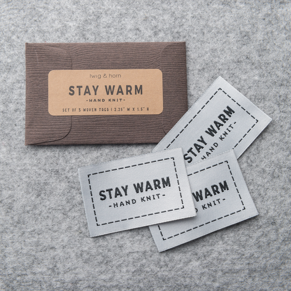 """ETIQUETTES """"STAY WARM"""" - Twig and Horn"""