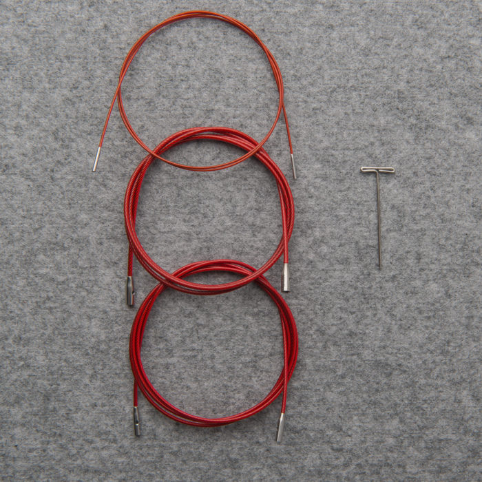 """TWIST"" INTERCHANGEABLE RED CABLES - ChiaoGoo"