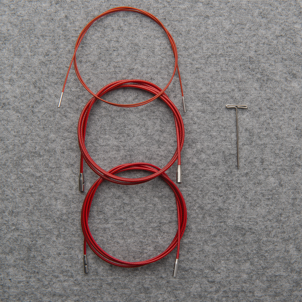 """""""TWIST"""" INTERCHANGEABLE RED CABLES - ChiaoGoo"""