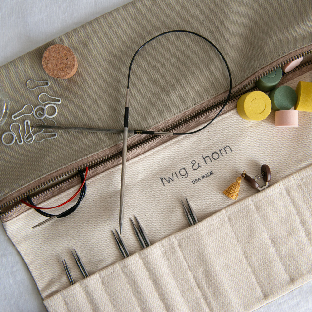 INTERCHANGEABLE NEEDLE CASE - Twig and Horn