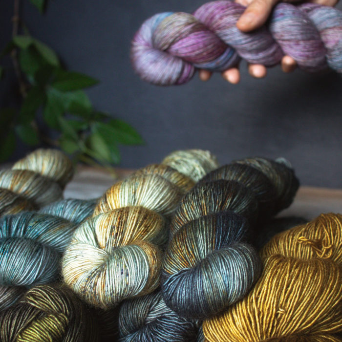 Merino Singles - Hand dyed yarn - Positive Ease
