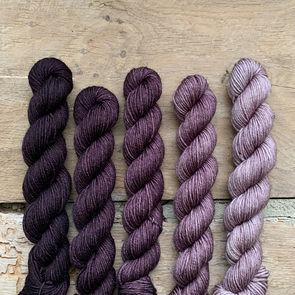 SET DE 5 MINI-ECHEVEAUX DEGRADES 100% MERINO - Woolissime Yarns