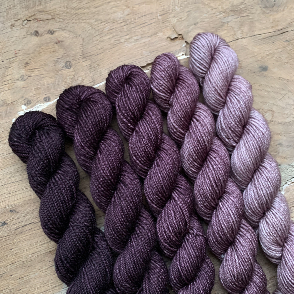 SET DE 5 MINI-ECHEVEAUX DEGRADES 100% MERINO - Woolissime Yarns