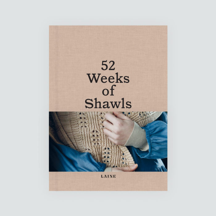 """LIVRE """" 52 WEEKS OF SHAWLS"""" - LAINE MAGAZINE"""