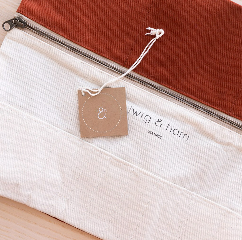 Canvas Interchangeable Needle Case - Twig and Horn