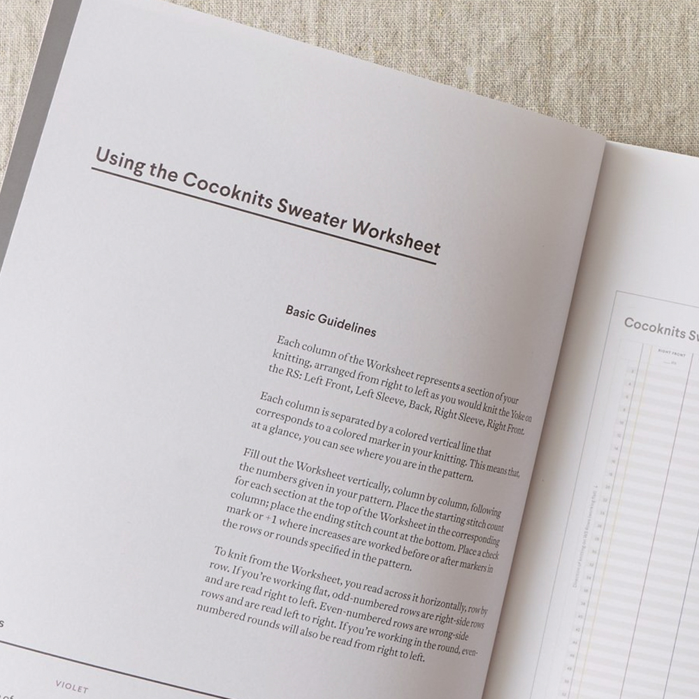 """CARNET """"SWEATER WORKSHEEP JOURNAL"""" - Cocoknits"""