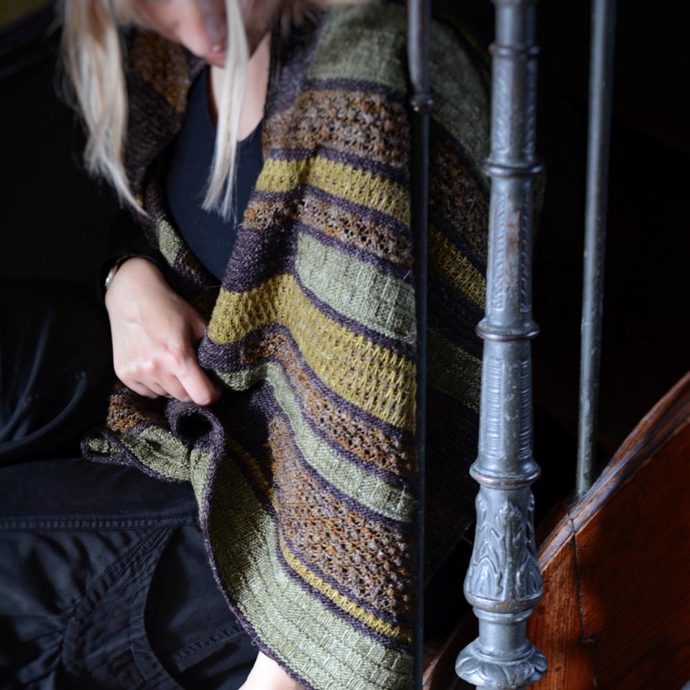"""KAIGA WRAP"" by BEATRICE MASE YARN SETS - Woolissime Yarns"