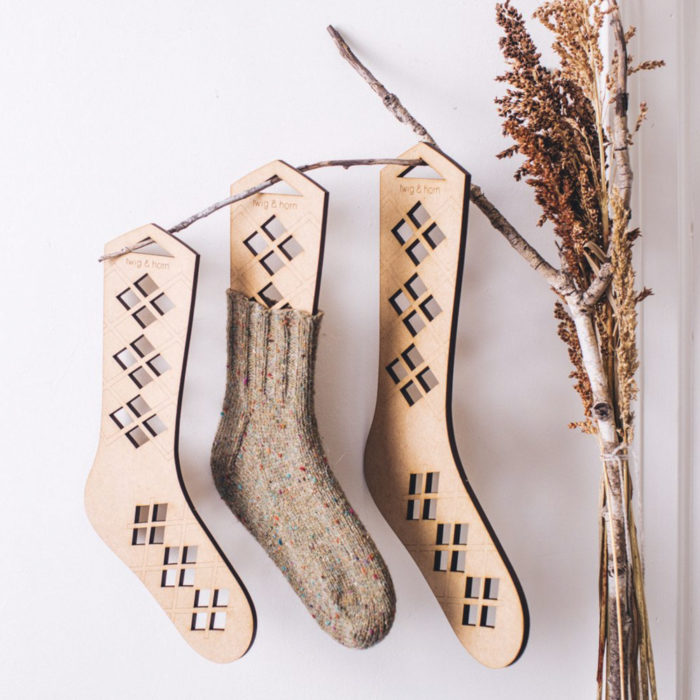 ARGYLE SOCK BLOCKERS - Twig and Horn