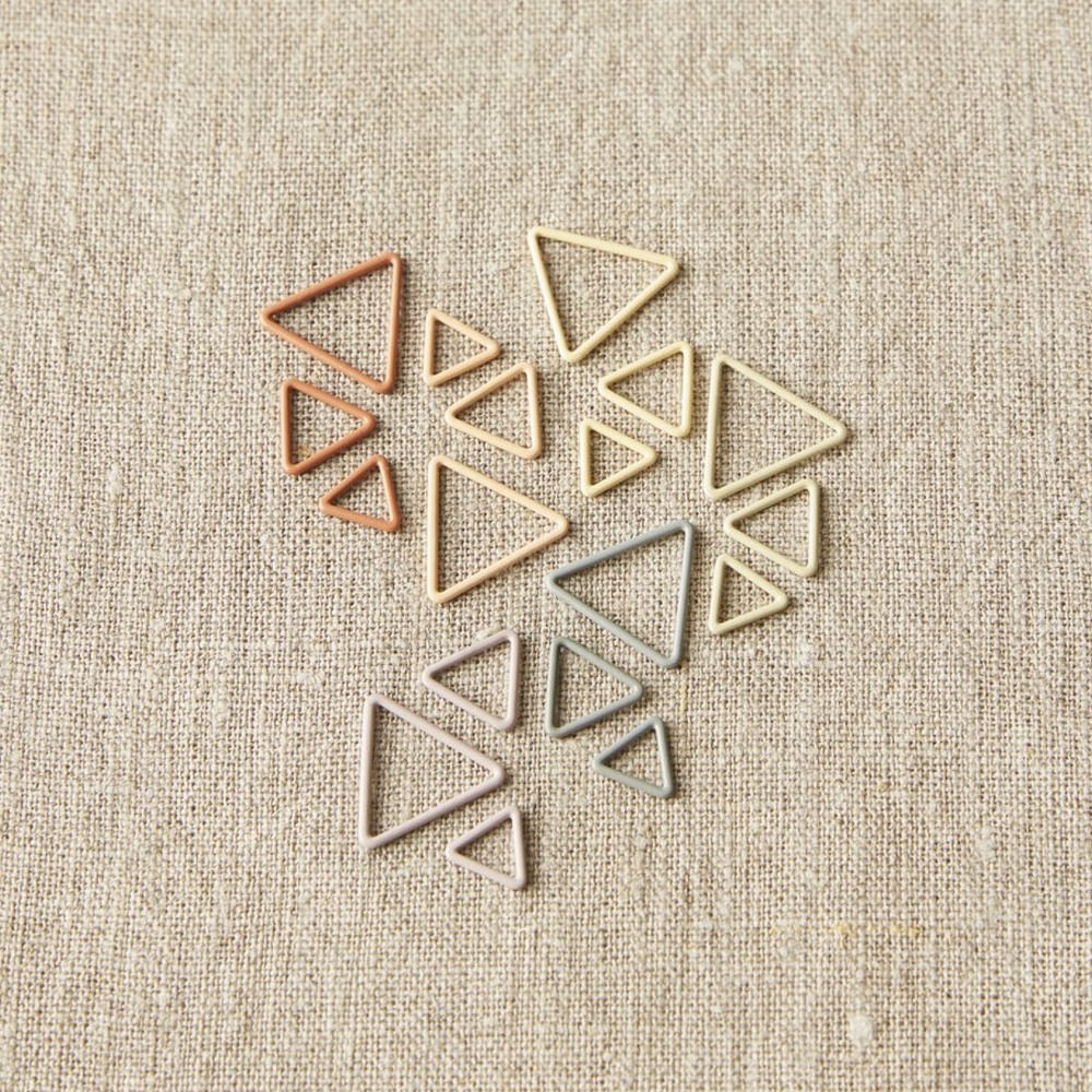 """MARQUEURS DE MAILLES TRIANGLE """"EARTH TONE"""" - Cocoknits"""